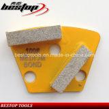 Disco de moedura de moedura concreto do metal do diamante da almofada com barras dobro