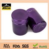 Пустые янтарные пластичные капсула/пилюльки/бутылка таблеток, фармацевтическая пластичная банка