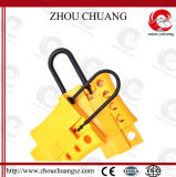 Color amarelo Nylon Lockout Hasp para Safety de Workers