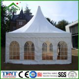 Tente en aluminium extérieure 6m d'écran de Gazebo de jardin de pagoda de bâti