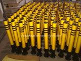 Краска выпечки безопасности проезжей части стальная черная с столбом желтого листа
