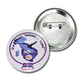 Förderung-Geschenk-preiswertes kundenspezifisches farbenreiches gedrucktes Metalltasten-Abzeichen