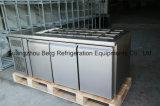 Réfrigérateur réalisable d'acier inoxydable avec le système de refroidissement de ventilateur