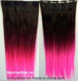 外国貿易の販売3カラー勾配の直毛の部分