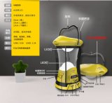 Luz de acampamento Integrated do painel solar da aleta com carregador do USB