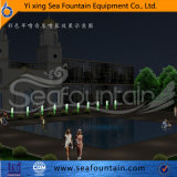 Fuente cuadrada decorativa de la música de la piscina de la lámpara cambiable