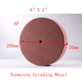 "8 ""X2"" 6p Wire Drawing Tuck Point Abrasive Non Woven Polishing"