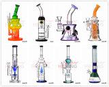 Conduites d'eau de fumage en verre coloré de recycleur