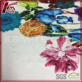 Tessuto di seta puro stampato floreale su ordinazione del raso di alta qualità 100%