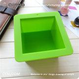 Gâteau fabriqué à la main simple vert de traitement au four de silicones de FDA de savon pour le pain