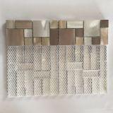 Nouvelle mosaïque de carreaux de fond en acier inoxydable à base de résine en cuivre de préminate