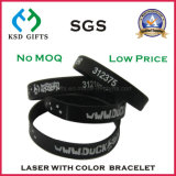 Wristband del silicone di numero di serie inciso laser