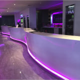 Modern Style Bar Furniture Mármore Stone Coffee Shop LED Cafe Restaurante comercial Bar Counter For Sale