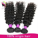 O melhor cabelo ondulado profundo do Indian dos produtos de cabelo humano do Virgin