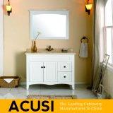 Einfache Art-festes Holz-Badezimmer-Eitelkeits-Badezimmer-Schrank-Badezimmer-Großhandelsmöbel (ACS1-W31)