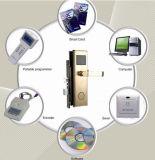 카드 판독기와 가진 유럽 RFID 호텔 문 손잡이 자물쇠