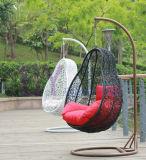 屋外余暇のPEの藤の振動椅子