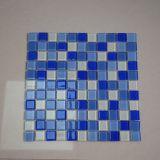 Дешевый квадрат цены делает по образцу мозаику синего стекла для плитки плавательного бассеина
