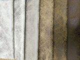 Tessuto del sofà della pelle scamosciata con cuoio che osserva il tessuto del sofà (JH038)