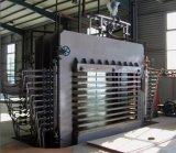 600 tonnes 10 couches de film ont fait face à la machine feuilletante de presse chaude hydraulique de contre-plaqué