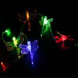 5m 50LED an der Wand befestigte batteriebetriebene LED helle Libelle-hängendes Licht für Feiertags-Hochzeits-Dekor