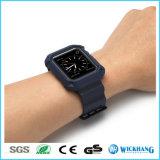 Braceletes de pulso de pulseira de silicone e silicone de silicone para iPhone Apple Iwatch