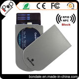 Portatarjetas plástico del protector de la tarjeta con el protector de RFID