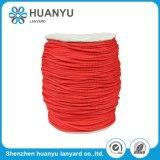 Cuerda trenzada tejida elástico modificada para requisitos particulares del poliester del color para la decoración