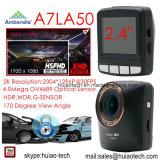 """2.4 de """" G-Sensor interno super do carro 1296p DVR da definição Ambarella A7la50 2k, 5.0mega câmera, Hdr, WDR, função DVR-2404 de Dectection do movimento"""