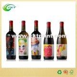 Met een laag bedekte Etiket van de Wijn van het Document van de luxe het Glanzende met Zelfklevende UV (ckt-La-456)
