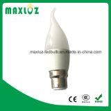 Forma atada luz F37 da vela do diodo emissor de luz de RoHS 3W 4W 5W 6W do Ce
