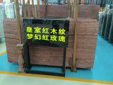 Mattonelle di marmo rosse del grano di legno della sovranità per il disegno della pavimentazione