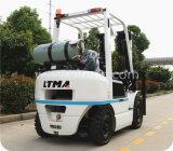 Gás de 2.5 toneladas & de Forklift do LPG caminhão com motor de Nissan