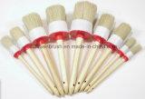 Escova de pintura redonda da cerda com punho de madeira