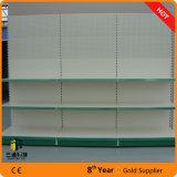 Tegometall estilo supermercado Gondola pantalla con panel trasero