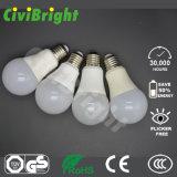 Natualの白い従来形60mm 7W E27 LEDの電球