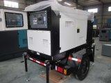 silencio diesel del generador de la generación 30kw con el acoplado de 3 ruedas