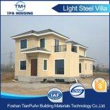 Casa prefabricada del edificio de marco de la estructura de acero de 4 dormitorios para la familia