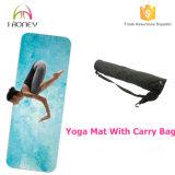 Los 2in combinados 1 estera fina de la yoga, toalla absorbente mojada de la yoga con la impresión de encargo