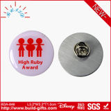 Distintivo del tasto di Pin dell'acciaio inossidabile verificato da Disney