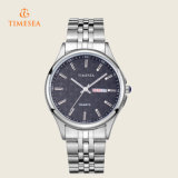 Stahlbildschirmanzeige-analoges Quarz-Uhr-Armbanduhr-Geschenk 72368 der Männer