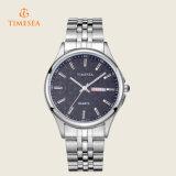 La montre-bracelet de quartz de qualité, Mens imperméabilisent la montre analogique en acier 72368