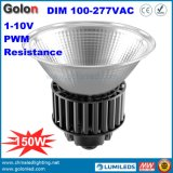 des Halogen-500W der Lampen-LED Bucht-Licht Abwechslungs-Aluminiumder karosserien-150W Dimmable neues hohes des Entwurfs-LED