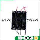 1AA Batteriehalterung mit den roten/schwarzen Leitungen