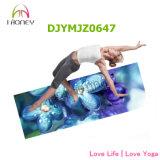 Couvre-tapis personnalisable de yoga d'impression polychrome pour Bikram, méditation, Ashtanga