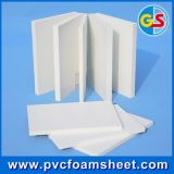 plástico de la hoja de la espuma del PVC 4X8 y hoja de la composición de madera para el edificio/la construcción