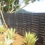 Los 2017 paneles de aluminio impermeables de la cerca del gris WPC del nuevo diseño para el jardín