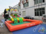夏の楽しみ子供のための膨脹可能な水スライドそしてプール