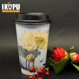 Heißer Verkaufs-Wegwerfdruckpapier-Cup für das heiße Trinken