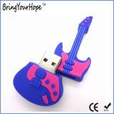 Disco de destello del USB del diseño de la dimensión de una variable de la guitarra (XH-USB-069)